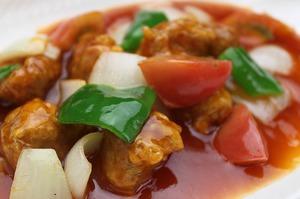 18.豚ロースのトマト酢豚