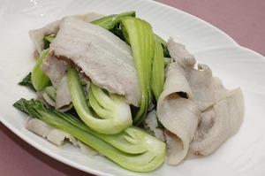 22.豚肉と青梗菜の炒め